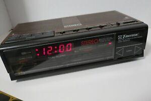 Emerson Stereo AM FM Digital Clock Radio Dual Alarm RES-5245 Tested Video
