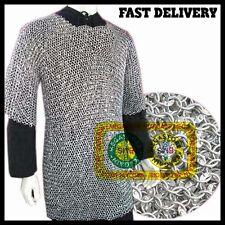 round riveted chainmail shirt 16 ga rivet aluminium chain mail haubergeon size m