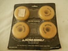 { 4 Nos Ultra Skate Attack wheels in-line wheels 69 mm x 24 mm Lot# 1