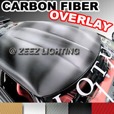Carbon Fiber Moon Roof Hood Trunk Bumper Overlay Tint Vinyl Wrapping Cover Film