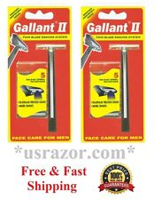 2 Gallant Razor fit Gillette Trac II Schick Super Blades Cartridge Refill Shaver