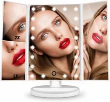 3 Farbe Kosmetikspiegel Schminkspiegel mit LED Beleuchtung 2/3/10x  Vergrößerung