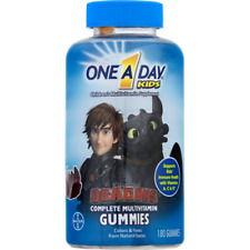One A Day Kids Complete Multivitamin Gummies 180 ct Dragons  exp 8/2020
