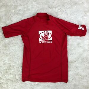 Body Glove Youth Size 10 Red Short Sleeve Rash Guard Top Sun Protection. Y3