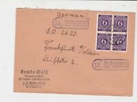 germany 1940s allied occupation stamps cover ref 18671