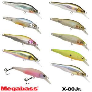 Megabass X-80 Jr.1/4 OZ Assorted Colors Suspending Minnow