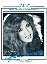 CYNTHIA CLAWSON RUBY SHEET MUSIC PIANO/VOCAL EXTREMELY RARE NEW ON SALE 1983