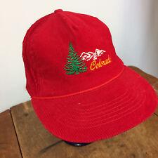 Vtg 70s 80s Corduroy Snapback Hat Cap Colorado Ski Mountain Snowboard Hat Cap