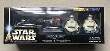 Star Wars ROTJ Medicom Kubrick Speeder Bike Figure Set *New & Mint Condition*