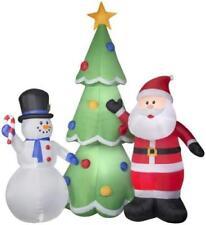 Christmas Airblown Inflatable Huge 13'  Santa & Snowman w/ Xmas Tree Yard Decor