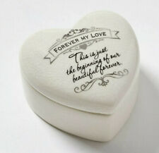 Insignia Forever My Love Heart Shape Engagement Wedding Ring Keepsake Box