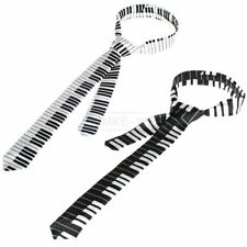 2x Black & White Piano Keyboard Keys Necktie Tie New