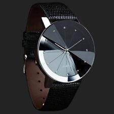 Reloj Pulsera Cuero Deportivo Cuarzo de Acero inoxidable de Lujo para Hombres