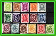 GERMANY 1951-52 POST HORNS complete SC.#670-85 MNH very FRESH OG CV.$1755.00