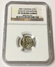 2001 Canada S10c Year of the Volunteers NGC PF 70 Ultra Cameo