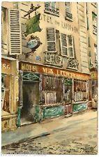 PARIS . LES VIEUX CABARETS . AU LION D'OR. 86. RUE MOUFJETARD. 5e arr