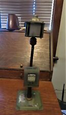 "Antique Bing Toy Train Street Lamp Light with Mail Box  9 & 3/4"" high"