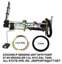 JEEP WRANGLER YJ 87-90 14.5 gal tank w/round top sending unit w/ FI with pump