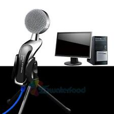 Professional Stereo Condenser USB Microphone With Stand Tripod for PC KTV Guitar