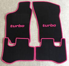 Autoteppich Fußmatten für Fiat Coupe 16V + 20V + Turbo 1993'-00' schw./pink Neu