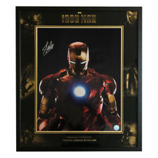 Signed Stan Lee Iron Man Marvel Display - Excelsior Authenticated Hologram