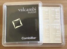 1x 100g Silber Tafel Barren (1 Stück 10x10g) Original CombiBar Valcambi Suisse