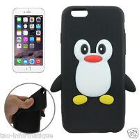 Coque silicone cartoon Pingouin pour iphone 6 et 6S 4.7 pouces