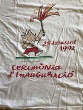 Vintage Barcelona 1992 Opening Ceremony Summer Olympics graphic tshirt size M