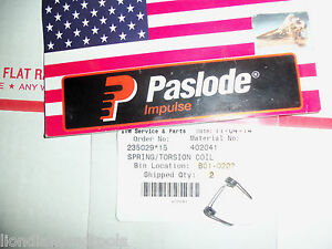 Paslode  Part # 402041  Torsion Spring, Feed Claw (Single Spring)
