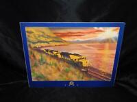 Alaska Railroad Poster 1991 Freight Train Turnagain Arm Whittier by R Rodriquez