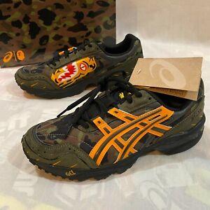 Bape x Asics A Bathing Ape Size 7 GEL-1090 Tiger Motif Sneakers Camo Shoes NIB
