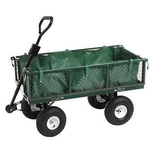 Heavy Duty Garden Trolley Cart Wheelbarrow Trailer Festival Truck Large 350kg