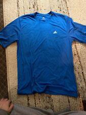 Adidas Men's Climalite Short Sleeve Tee (Blue, Large)