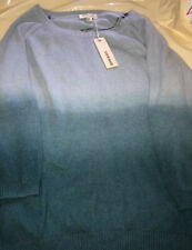Nwt Diesel Women's Size L Sweater Blue Angora Cable Knit $178