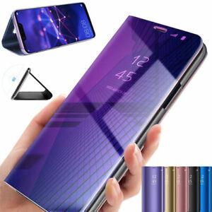 Handyhülle für Huawei P20 Mate P10 Clear View Flipcase Klapphülle Spiegel Tasche