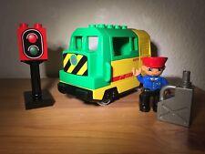 LEGO Duplo Eisenbahn - elektrische Lok / Diesellok aus 5609 / Neues Ritzel