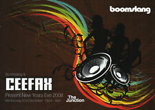 BOOMSLANG CEFAX 31/12/08 Classic Rave Flyer
