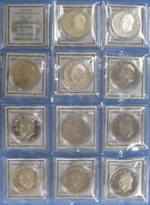 1971 to 1978 Eisenhower Dollar 11 Coin Proof Set with Silver Issues