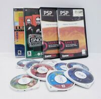 Lot of Sony PlayStation Portable PSP Loose UMD Discs 11 Games 2 Movies Used