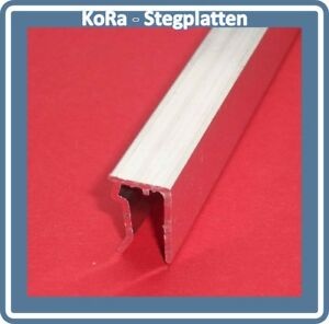 U-Abschlussprofil für 6 mm Stegplatten, Aluminium, pressblank, 2100 mm lang