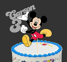 MICKEY MOUSE /MINNIE MOUSE PERSONALISED  CAKE TOPPER/ TABLE CENTER PIECE