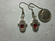 Witch Tarot Psychic Luck Spell Gypsy Hamsa  Earrings Silver