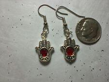 Witch Tarot Psychic Luck Spell Gypsy Hamsa  Earrings Silver