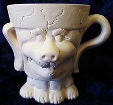 Ready to Paint Puppy Crackpot Planter/cup/pencil holder