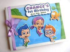 Personalizado Bubble Guppies Niño/Niña/Primera/1ST cumpleaños del libro de visitas-Cualquier Diseño