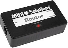 Midi Solutions Router route, filter, and rechannelize selected MIDI messages
