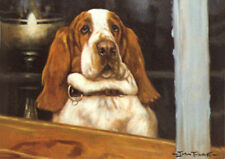 BASSET HOUND DOG FINE ART LIMITED EDITION PRINT