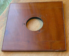 "wooden lensboard 125x126mm 5""  36.3mm hole , 3 flange mounting holes"