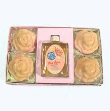 Lander Pink Petals bath set: soap & toilet water, unused B14