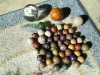 ASSORTMENT OF ANTIQUE MARBLES  48 IN ALL